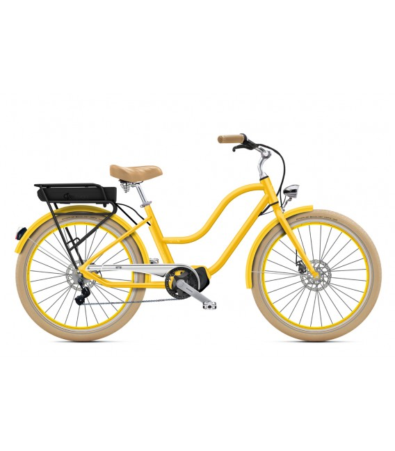 "Cruiser à assistance électrique O2Feel POP N8 Jaune Imperial 26"" Mid - P400 2020"