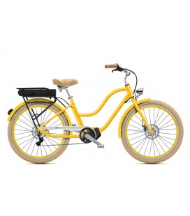 "Cruiser à assistance électrique O2Feel POP N8 Jaune Imperial 26"" Mid - P600 2020"