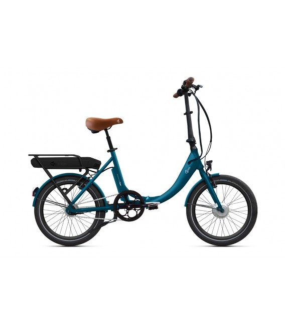 "Vélo pliant à assistance électrique O2Feel PEPS ON7 Bleu Cobalt 20"" Univ - Origin - P400 2020"