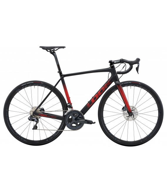 Vélo de route Look 785 HUEZ RS Disc SHIMANO ULTEGRA DI2 black red glossy mat 2020