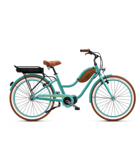 Beach cruiser à assistance électrique O2Feel POP mixte N7C SHIMANO STEPS E5000 mint/copper P600 2020