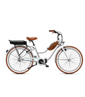Beach cruiser à assistance électrique O2Feel POP mixte N7C SHIMANO STEPS E5000 chrome/mint P600 2020