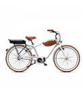 Beach cruiser à assistance électrique O2Feel POP man N7C SHIMANO STEPS E5000 chrome/brick P600 2020