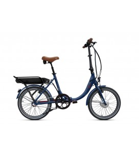 Vélo pliant à assistance électrique O2Feel PEPS N3 ORIGIN blue/brick 374 2019