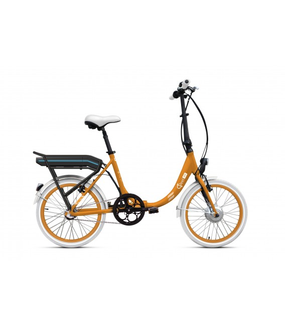 Vélo pliant à assistance électrique O2Feel PEPS N3 ORIGIN orange 504 2019