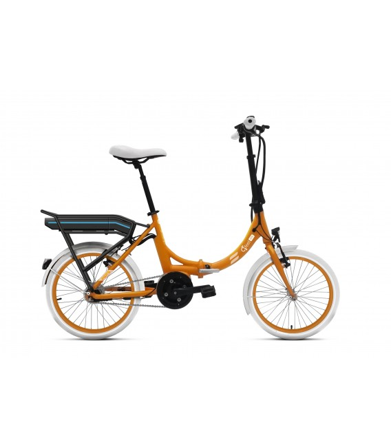Vélo pliant à assistance électrique O2Feel PEPS N7C OES orange 374 2020