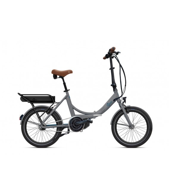Vélo pliant à assistance électrique O2Feel PEPS N7C SHIMANO STEPS E5000 grey/blue P600 2019