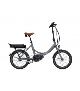 Vélo pliant à assistance électrique O2Feel PEPS N7C SHIMANO STEPS E5000 grey/blue P600 2020
