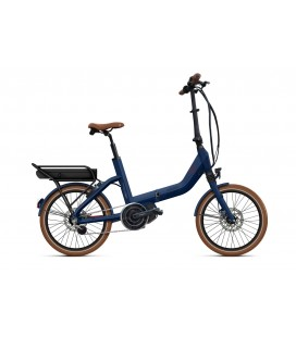 Vélo pliant à assistance électrique O2Feel SWAN FOLD ALFINE Di2 SHIMANO STEPS E5000 blue/brick P400 2020