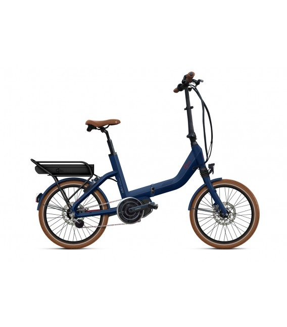 Vélo pliant à assistance électrique O2Feel SWAN FOLD ALFINE Di2 SHIMANO STEPS E5000 blue/brick P600 2019