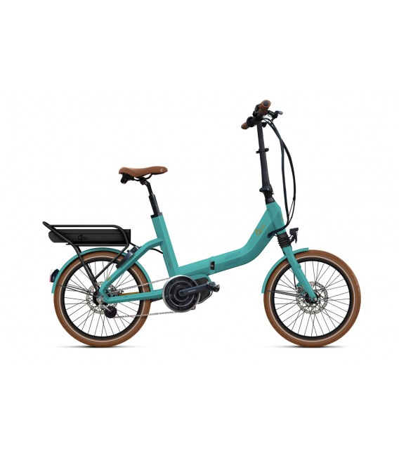 Vélo pliant à assistance électrique O2Feel SWAN FOLD ALFINE Di2 SHIMANO STEPS E5000 mint/copper P600 2019