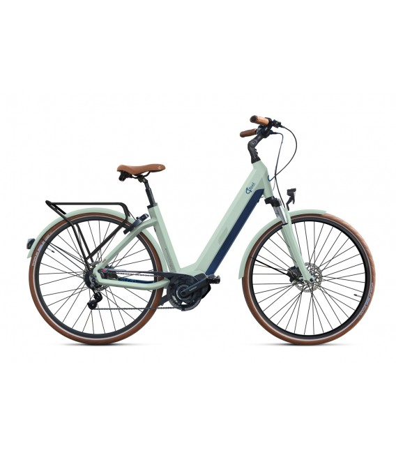 Vélo à assistance électrique O2Feel iSWAN ALFINE Di2 SHIMANO STEPS E5000 light green/blue iP432 2019